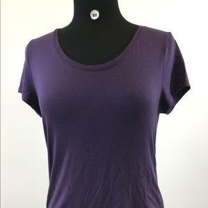 Banana Republic Purple Scoop Shirt Size S (B-88)